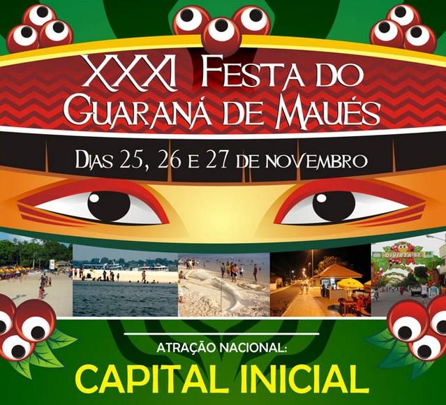Affiche de la fête du guarana à Maues