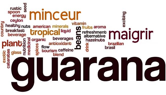nuage de mot clé guarana et minceur